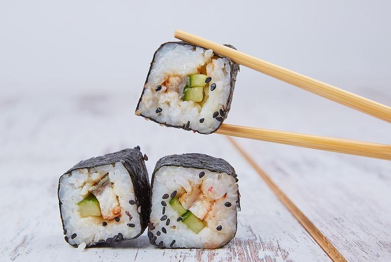 rotoli di maki per la lezione di sushi
