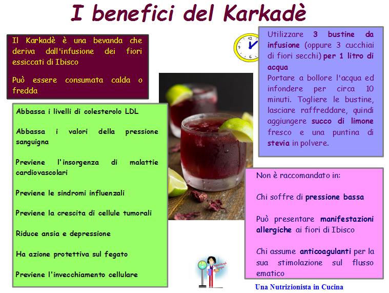 i benefici del karkadè riassunti in una scheda
