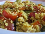 piatto d cous cous con peperoni