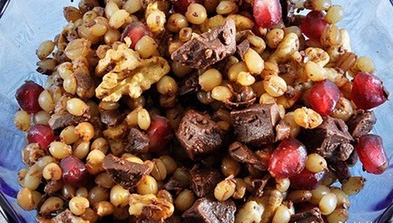 piatto del pasto tipico della festa di ognisanti