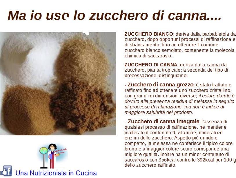 scheda tecnica che racconta la differenza tra lo zucchero bianco e lo zucchero di canna