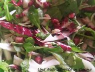 insalata con melograno rucola radicchio e noci