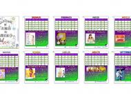 foto di un calendario del 2016