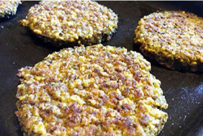 hamburgers di miglio e lenticchie