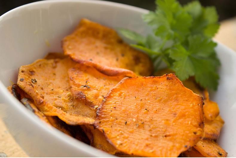 chips di carote tagliate a rotelle
