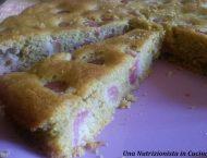 torta di mais con ciliegie
