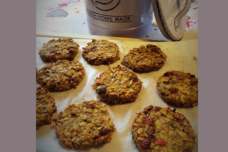 biscotti ai fiocchi di avena con bacche di goji