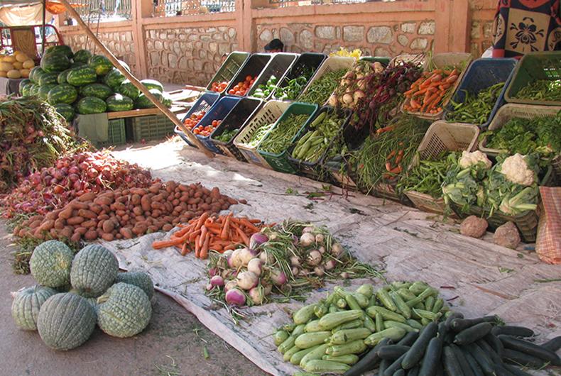 mercato di verdure in marocco