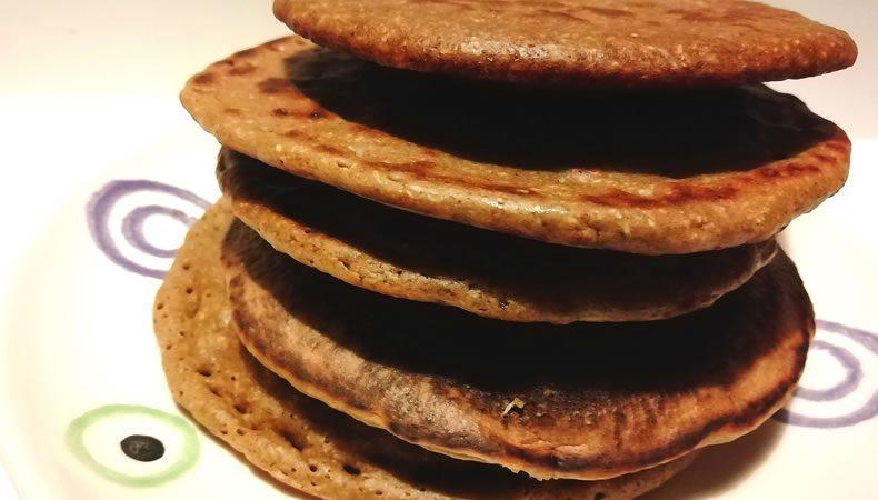 pancakes con farina di castagne