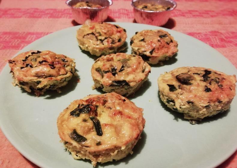 muffin salati con uova e verdure