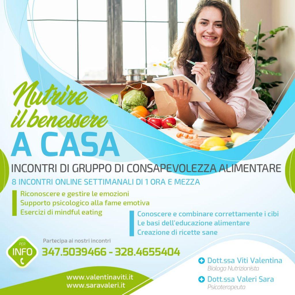 locandina nutrire il benessere a casa